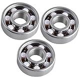 Lucklystar® Bearings 608 Hybrid Ceramic Mittellager Kugellager für Spielzeug, Skateboard, Roller, Inline Skates3PCS