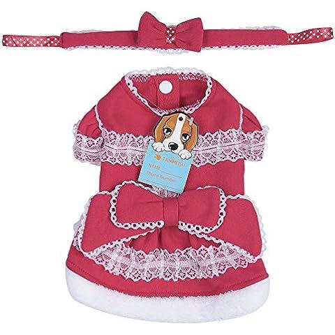 Gato del perro de animal doméstico de la ropa del traje del vestido de la princesa del vestido de Cosplay de la Navidad -