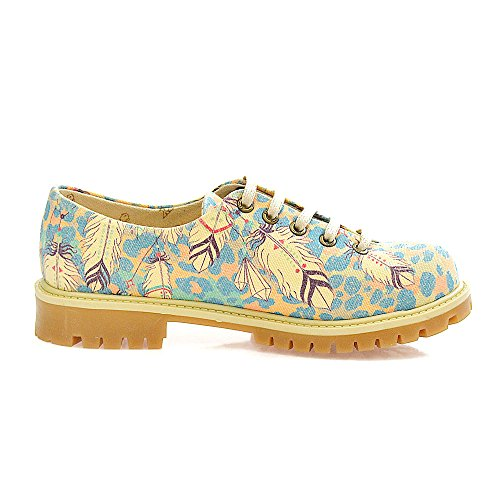 Goby UK TMK5504-5510, Chaussures à Lacets Femme TMK5510 Indian