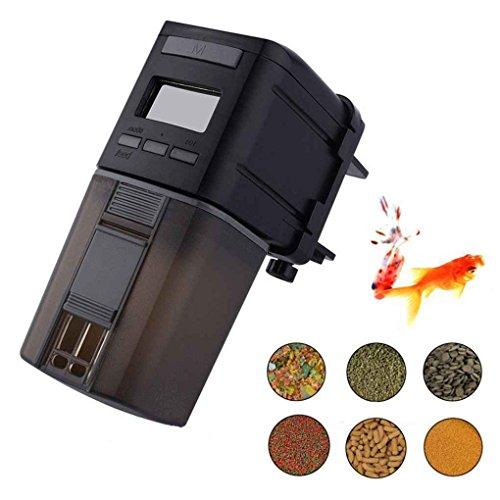 Mengonee Mini Automatische Fisch Feeder Aquarium Fisch Lebensmittel Automatische Timer Fütterung Dispenser Einstellbare Ausgabe Auto Feeder