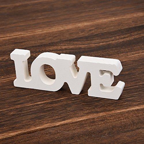 aihome Holz Buchstaben Hochzeit Party Home Raum Dekoration Schild Top Table Decor Foto Stand vertreten Geschenk D - 4