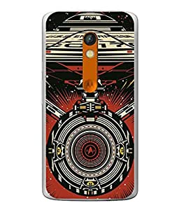 PrintVisa Designer Back Case Cover for Motorola Moto X Play (Galaxy In Space Machine Star Universe Moon )
