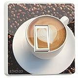 Kaffeetasse Cappuccino Beans Lichtschalter Sticker vinyl schutzfolie [Generic Einzeln] von stika.co