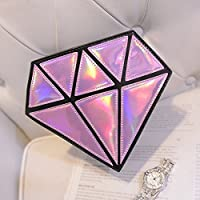 ourbest ologramma Borsa Messenger Borsa a forma di diamante donna Laser olografico Sacchetti Crossbody Borsa
