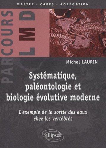 Systématique, paléontologie et biologie évolutive moderne