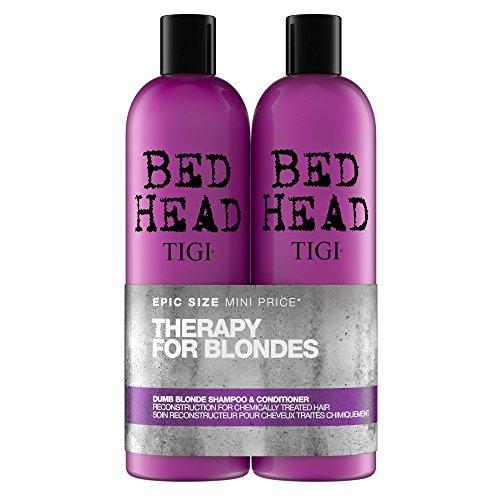 Tigi BED HEAD Tween Duo Shampoo and Conditioner Dumb Blonde, 1er Pack (1 x 1500 ml) (Conditioner Blonde Shampoo Dumb)
