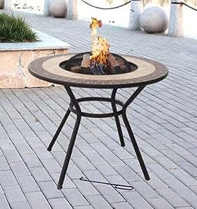 Best Verona Feuerstelle & Tisch–Feuerschale, Garten Heizung, BBQ Fire Pit