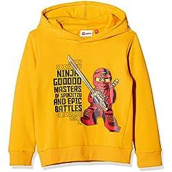 LEGO Wear Boy Ninjago Sebastian 715, Sudadera para Niños, Amarillo (Yellow 202), 4 años