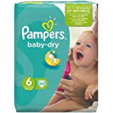 Pampers Baby Dry couches Taille 6 (XL) 15 kg, SDS Plus 22 Couches Lot de 4 (4 x 22 Couches)