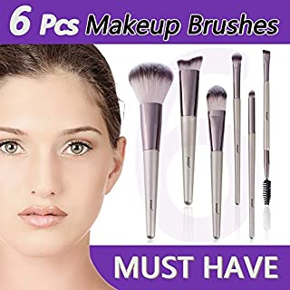 Makeup Brush Set Anmyox 6pcs Professional no shedding soft Makeup Brushes Kit Beginner Synthetic Cosmetic Beauty Brushes,Eye Shadow Foundation Blush Tool for Powder Creams Liquids