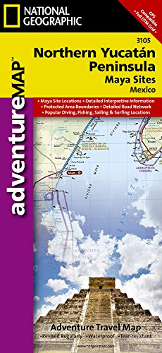 Northern Yucatn/maya Sites, Mexico: Travel Maps International Adventure Map (National Geographic Adventure Map) por National Geographic Maps