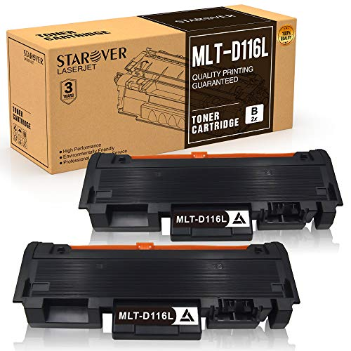 STAROVER MLT-D116L MLT-D116S Cartuccia Toner Sostituire Per Samsung Xpress SL M2675F M2835DW M2675 M2675FN M2676 M2625 M2625D M2825DW M2825ND M2826 M2875 M2875FD M2875FW M2876 M2885FW (2 Nero)