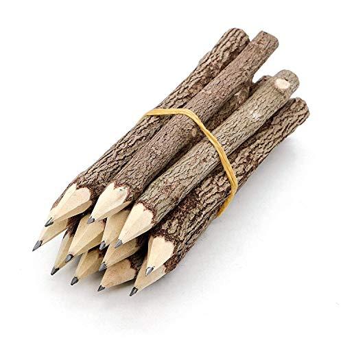 Bleistifte aus Graphitbaum, rustikaler Zweig, einzigartige Birke von 12 Camping-Holzfällern, Party-Geschenk.