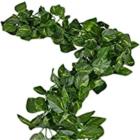 Uni-love-Rami decorativi di strass a foglie di piante di vite (47,54 m Scindapsus Leaves