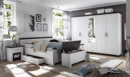 Schlafzimmer, Schlafzimmermöbel, Set, komplett, Komplettset, Schlafzimmereinrichtung, Komplettangebot, Einrichtung, 4-teilig, Landhausstil