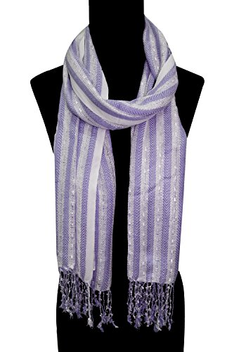 BOLLYWOOD ACCESSORY- Viscose fancy scarf /Stole / Dupatta with twisted fringes (Style...