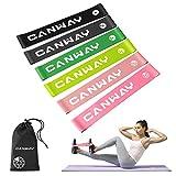 CANWAY Bande Elastiche Fitness Set di 6 Elastici Fitness 100% Lattice Naturale 30 × 5 cm, Bande Elastiche di Resistenza Esercizi per Allenamento a Domicilio, Pilates, Yoga, Rehab, Fisioterapia