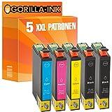 Gorilla-Ink® 5 Patronen XL 29XL GI2991-GI2994 kompatibel für Epson Expression Home XP-332 XP-335 XP-342 XP-345