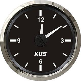 KUS garantiert Clock Meter Gauge 12-Stunden-Format mit Hintergrundbeleuchtung 52 mm (2
