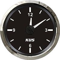 """Kus garantizada reloj medidor calibre 12horas formato con retroiluminación 52mm (2"""") 12V/24V"""