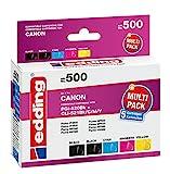 edding Tintenpatrone EDD-500 ersetzt Canon PGI-520/CLI-521BK/C/M/Y Multipack 5-2x Schwarz, Cyan, Magenta, Gelb - 1x 20ml + 4x 10,5ml