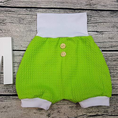 kurze Hose Bloomer Pumphose Sommerhose Shorts Waffelpique Holzknöpfe Kinderhose mit Knöpfen Mitwachshose Baby Junge Mädchen personalisiert Farbwahl