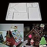 FEIDA Kuchen-Form, Pudding, Gelee Backen, Weihnachten, Schokolade, Lebkuchenhaus, Kuchen-Form, Werkzeug – Weiß