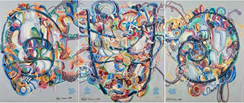 Genesis Tripticum Original Handmade Abstrakte Malerei