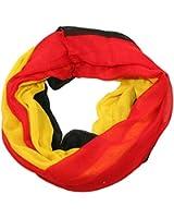 Deutschland Germany WM Loop Schal schwarz rot gold TOP Qualität (Fussball Loopschal Schlauchschal)