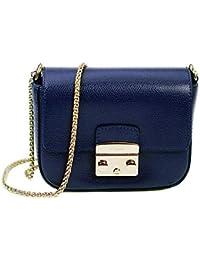 bd71b1f9099a8 Furla Mini Handtasche Metropolis Air Crossover Tasche Blau 791298 Gold