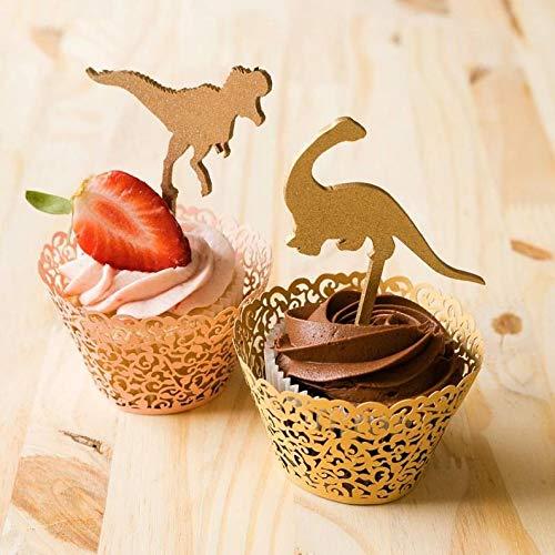 Dinosaurier-Cupcake-Topper, Dinosaurier-Motto-Party, Jurassic Park, T-Rex Cupcake-Topper, Dinosaurier Geburtstag Cupcakes