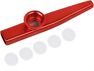 Generic Aluminium Alloy Kazoo with Diaphragm Red-15013498MG