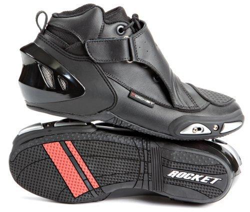 Joe Rocket V2X Reiten Schuhe–9,5/schwarz (Reiten Ferse)