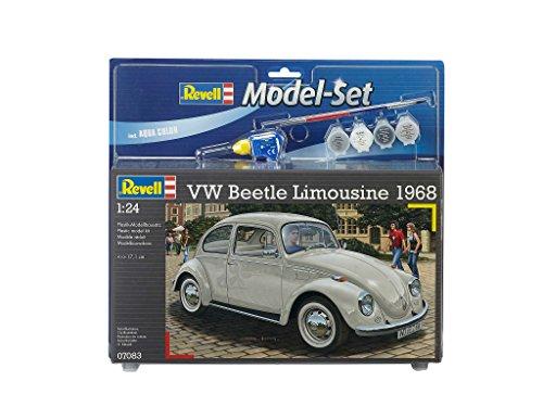 Revell Modellbausatz Auto 1:24 - Volkswagen VW Käfer 1968 (VW Beetle) im Maßstab 1:24, Level 4, originalgetreue Nachbildung mit vielen Details, , Model Set mit Basiszubehör, 67083 (Modell-autos Bauen)