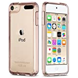 ULAK iPod Touch 5/6th Case, CLEAR SLIM Transparent iPod Touch Case Soft Flexible Thin Gel TPU Skin Scratch-Proof Case Cover for Apple iPod Touch 5th/6th Generation (Rose Gold)