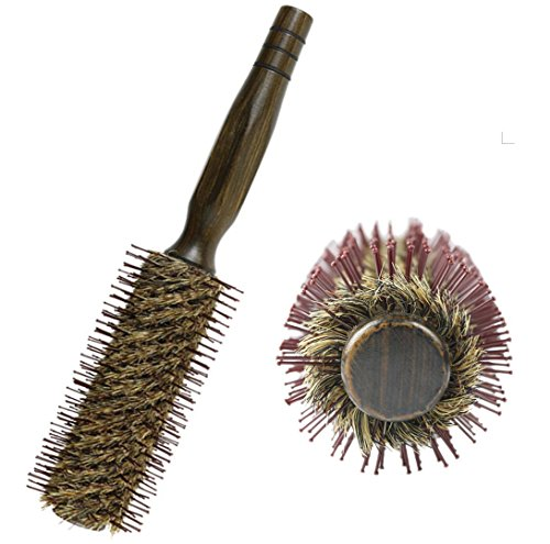 About Beauty Shufei Natural Boar Borsten Haarbürste Paare Runde Curling Combs Holzgriff, Anzug Für Haartrocknung, Styling, Curling, Hinzufügen von Haar Volumen,4.5Cm -