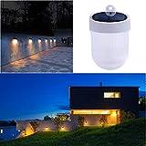 TianranRT LED Wasserdicht Solar Wand Lampe mit Doppel Farbe Licht Quelle für Garten Hof (Weiß)