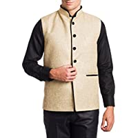 Wintage Men Cotton Sleeveless Waistcoats (Wc101Beiges40 _Beige _40)