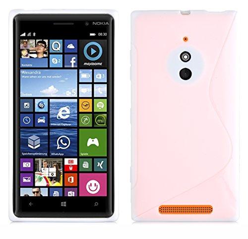 Cadorabo Coque pour Nokia Lumia 830, Semi Transparent Design S-Line Gel Silicon TPU Etui Nokia Lumia 830 Housse de Protection Anti Choc Souple Case Cover Bumper pour Nokia Lumia 830