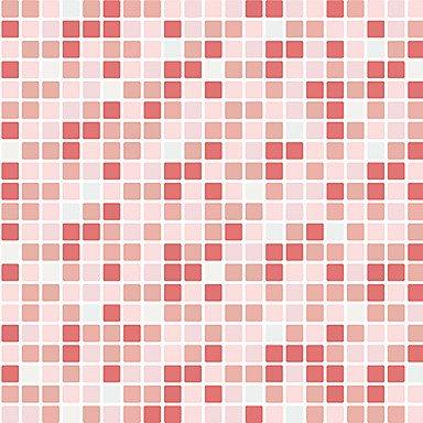 fyzs 1pcroll Wall Paper Küche Home Decor mosaik Fliese Vinyl Wandsticker Wasserdicht Tapete für Badezimmer rot