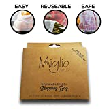 wiederverwendbar erzeugen Mesh Tasche, Set von 10+ Carrier Tasche, kommt in Carton Box, ideal für Aufbewahrung von Obst, Gemüse und Toys. Waschbar, BPA–Frei