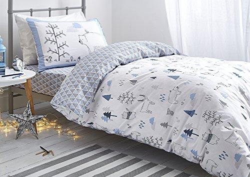 nordica-bianca-cotone-morbido-cotone-stampa-copripiumino-singolo-set-blu