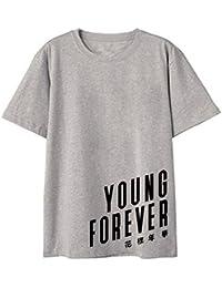 SERAPHY Unisex Camiseta de Verano KPOP Bangtan Boys BTS Tshirt Young Forever for Army Suga Jin