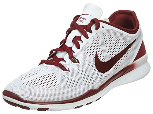 Nike - Free 5.0 Tr Fit 4, Sneaker Donna White/rosso team