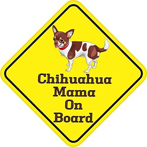 15-cm-x-15-cm-soggetto-Chihuahua-Cane-animali-a-Mama-Bordo-adesivo-in-vinile-decalcomania