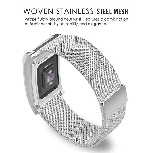 MoKo MoKo Fitbit Charge 2 Band Milanese Loop Mesh Stainless Steel Bracelet  Strap + Frame Housing for 2016 Fitbit Charge 2 Heart Rate + Fitness