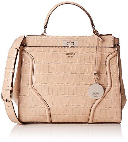 guess-georgie-satchel-sacs-a-main-femme-beige-nut-taille-unique