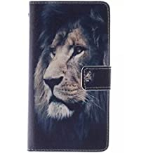 Coffeetreehouse - Bolso pequeño al hombro para mujer Black lion LG G3