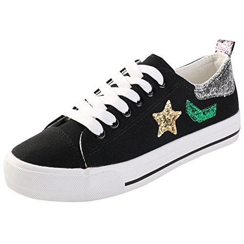 Alexis Leroy stella Sneaker Scarpe da Ginnastica Basse Donna Nero
