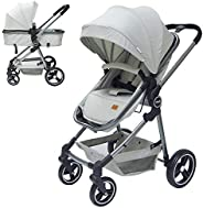 Moon Pro 2 in 1 (Convertible to Carrycot), Reversable Stroller/Pram suitable for Newborn/Infant/babies/kids fr